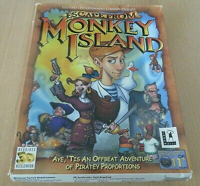 ESCAPE FROM MONKEY ISLAND - PC CD-ROM Game BIG BOX 2-Discs  • 19.99£