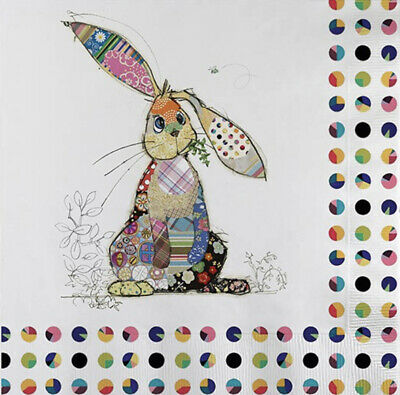 5 Paper Party Napkins Binky Bunny Pack Of 5 3 Ply Tissue Serviettes • 2.50£