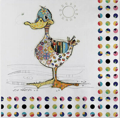 £2.50 • Buy 5 Paper Party Napkins Dotty Duck Pack Of 5 3 Ply Tissue Serviettes