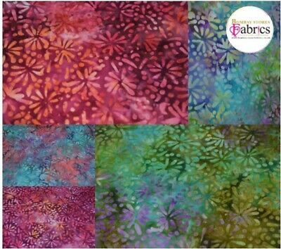 Bali Batik 100% Cotton Fabric 44  5 Variations • 4.99£