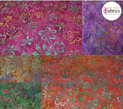 Bali Batik 100% Cotton Fabric 44  5 Variations • 3.25£