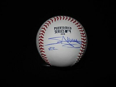 $ CDN198.15 • Buy Miguel Sano Signed Rawlings Official 2018 Puerto Rico Series Baseball-very Rare!