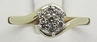 AU570 • Buy Solid 9ct Yellow Gold Natural Diamond Engagement/dress Ring - Size Q