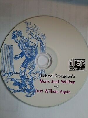 Richmal Crompton / MORE JUST WILLIAM & AGAIN  2 Audiobooks 28 Stories On MP3 CD  • 2.25£