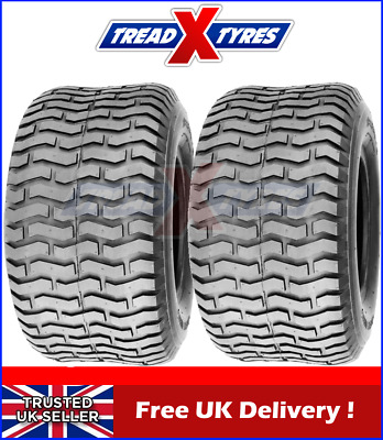 2x 4Ply Ride On Lawn Mower 20x10.00-8 Tyres Two Garden Tractor Golf Buggy Turf • 64.99£