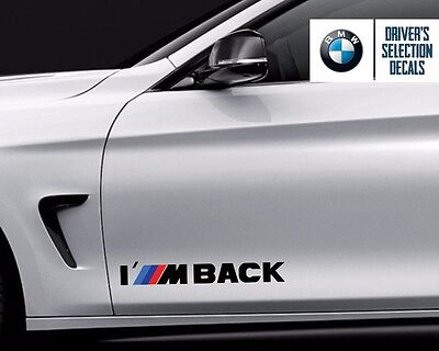 $12.50 • Buy BMW I M BACK M Power Performance Decal Sticker Graphics