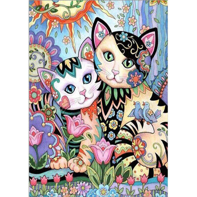 AU15.75 • Buy DIY Full Drill 5D Diamond Painting Cats Embroidery Cross Stitch Kit Home Decor