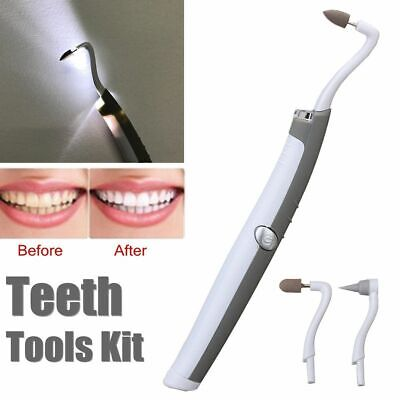 Sonic LED Dental Tooth Stain Eraser Teeth Polisher Whitener Plaque Remover Home • 13.91£