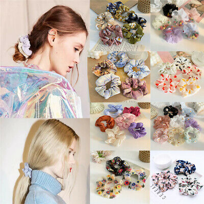 $ CDN3.17 • Buy Women Accessories Long Bow Hair Scrunchies Rope Band Ring Tie Ponytail Holder