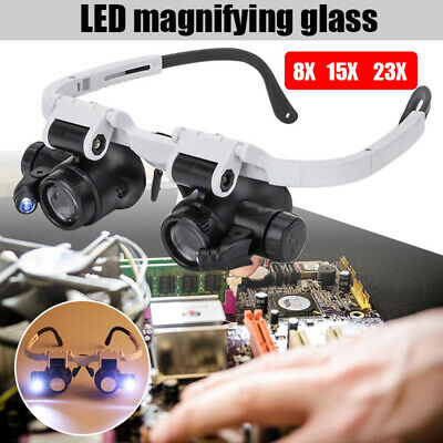 £5.85 • Buy Magnifying Glass LED Light Head Loupe Jeweler Watch Clock Repair Magnifier