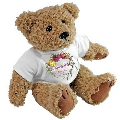 £11 • Buy Personalised Teddy Bear For Bridesmaids Flower Girls Ideal Wedding Favour Gift