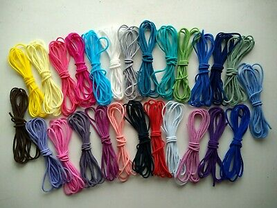 20 Colour 3mm Round Elastic Cord Soft Stretch Band Sewing Crafts Face Mask DIY  • 3.54£