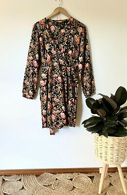AU35 • Buy ASOS Bird Floral Wrap Dress Sz 14 | Ex Cond