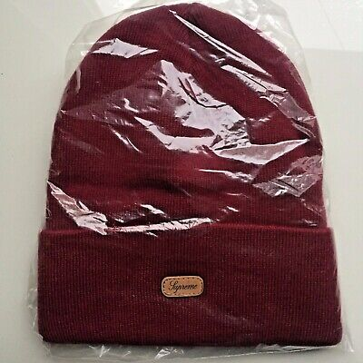 $ CDN79 • Buy BRAND NEW Supreme Beanie Red/Bordeaux 100% AUTHENTIC