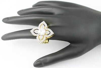 £9.99 • Buy Gold Plated 2 In 1 Ring And Bracelet Studded With CZ Diamante