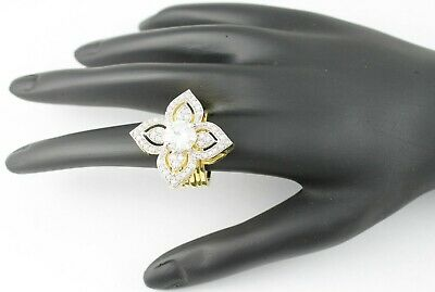Gold Plated 2 In 1 Ring And Bracelet Studded With CZ Diamante • 9.99£