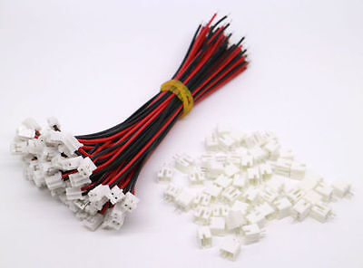 AU3.99 • Buy 50 SETS Mini Micro JST 2.0 PH 2-Pin Connector Plug With Wires Cables