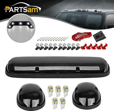 $39.33 • Buy 3PC Smoke Cab Marker Roof Lights+168 White LED Bulbs Lamps For Chevy GMC 02-07