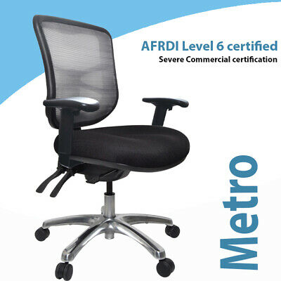 AU399 • Buy Buro Metro Ergonomic Chair  Aluminium Base Heavyduty Chair Performance Chair