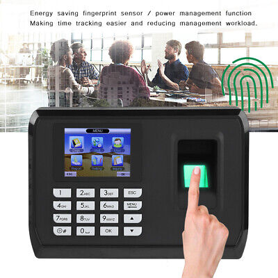 2.4in Screen Biometric Fingerprint Password Attendence Machine Time Clock USB • 35.89£