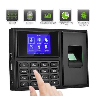 £49.58 • Buy 2.4in LCD Fingerprint Password Card Recognition Attendence Machine Time Clock