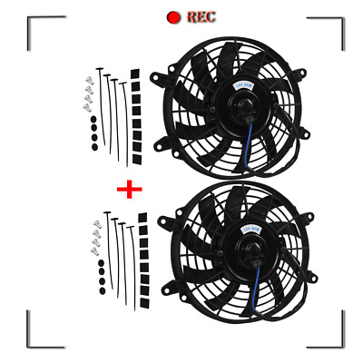 AU73 • Buy 2X9  INCH FANS+MOUNTING PULL/PUSH RADIATOR Cooling Electirc Thermo Fan