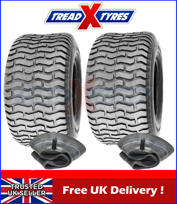 2x Lawn Mower 18x9.50-8 Tyres & Tubes 4Ply Garden Tractor 18 950 8 Golf Turf X2 • 69.99£
