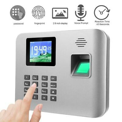2.8in Employees Attendence Machine Biometric Fingerprint Time Clock 100-240V • 56.88£