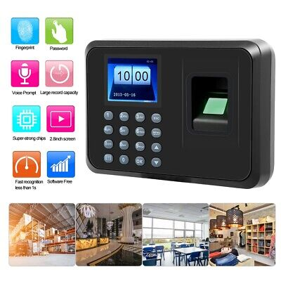 2.4in LCD Fingerprint Password Attendence Machine Time Clock For Office Hotel • 27.58£