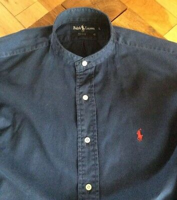 Mens Grandad Shirt By Ralph Lauren         16.5.  Collar. L • 5.50£