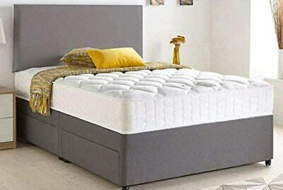 £249 • Buy  Divan Bed With Orthopaedic Mattress Plus Headboard (All Sizes!) Chenille Fabric