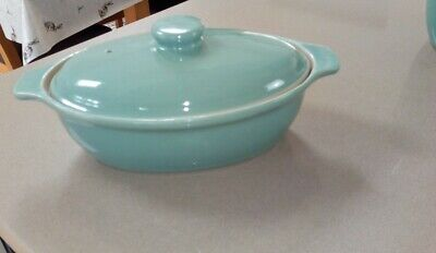 Denby Manor Green Small Oval Casserole Dish With Lid 1 3/4 Pint • 22£