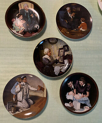 $ CDN31.37 • Buy Norman Rockwell Set Of 5 Plates From 80's