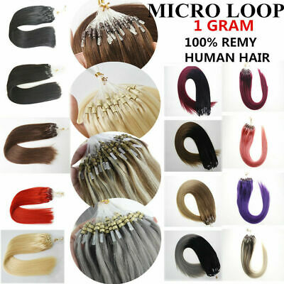 £29.25 • Buy Micro Ring Beads Loop Hair Extensions Real Remy Human Hair Balayage OmbreThick1g