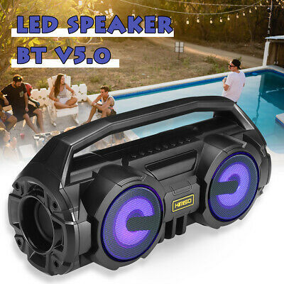 AU33.92 • Buy Portable Wireless Bluetooth 5.0 Speakers Waterproof Stereo Bass Outdoor USB TF