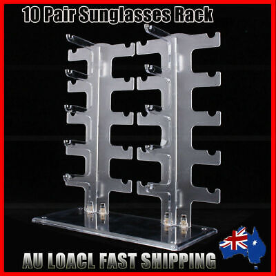 AU21.89 • Buy 10 Pair Acrylic Sunglasses Eye Glasses Display Rack Stand Holder Organizer New