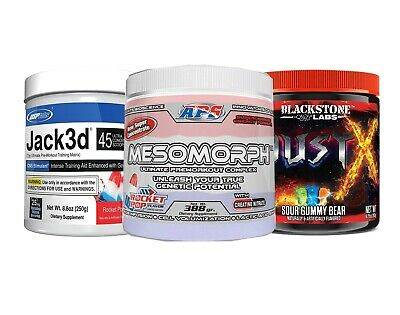 AU78.95 • Buy PRE WORKOUT | USP Labs JACK | *NEW* MESOMORPH | DUST X | JACKED UP SALE!