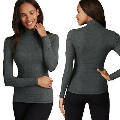 Marks & Spencer Womens Thermal With Cashmere New Long Sleeve M&S Turtle Neck Top • 12.50£