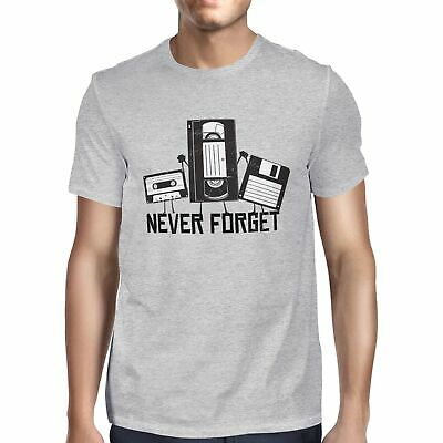1Tee Mens Never Forget Retro Tapes T-Shirt • 6.99£