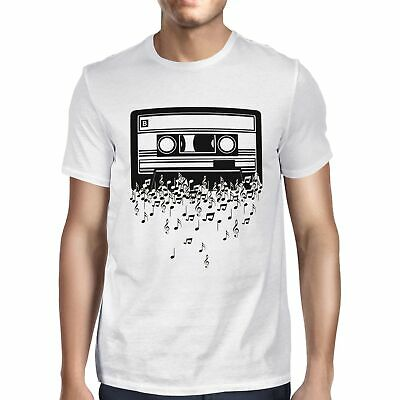 1Tee Mens Cassette, Don't Stop The Musical Notes T-Shirt • 6.99£