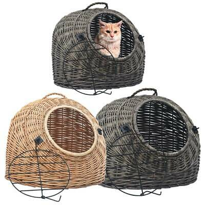 Pet Carrier Kitten Cat Puppy Rabbit Transporter Travel Box Wicker Cage Vet Case  • 39£