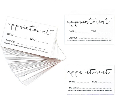 100pcs Appointment Reminder Cards For Business, Hair Salon, Dental Office, And - • 8.75£