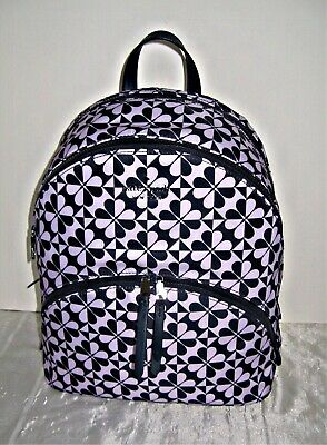 $ CDN157.52 • Buy KATE SPADE - Karissa Nylon Spade Clover Geo Large Backpack - Purple / Navy