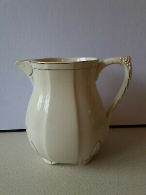 Vintage Alfred Meakin Cream And Gilt Jug 6  Tall  • 4.24£