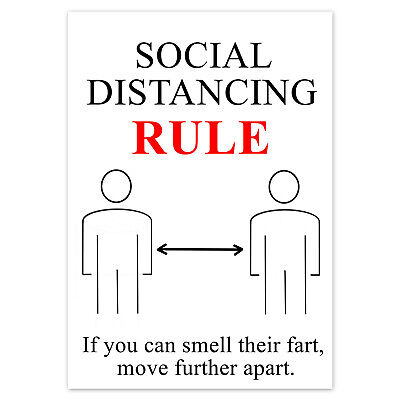 FUNNY BIRTHDAY CARD Rude Adult For Men Women Male Female SOCIAL DISTANCING RULE • 2.59£