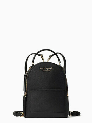 $ CDN241.15 • Buy Kate Spade Cameron Monotone Mini Convertible Backpack  Black - NWT
