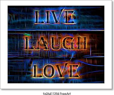 Live Laugh Love Qyote Art Print / Canvas Print. Poster, Wall Art, Home Decor - H • 33.30£