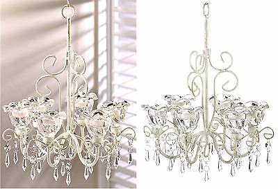 £26.12 • Buy Crystal Blooms  6 Candle Holder Chandelier & Chain ** Nib