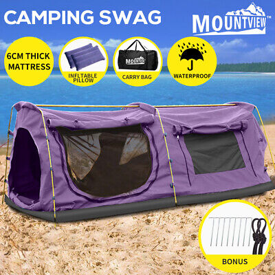AU239.99 • Buy Mountview Double King Swag Camping Swags Canvas Dome Tent Hiking Mattress Purple