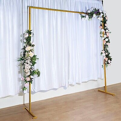 $119.31 • Buy GOLD 8 Ft Square Metal Arch Backdrop Stand Party Wedding Reception Decorations